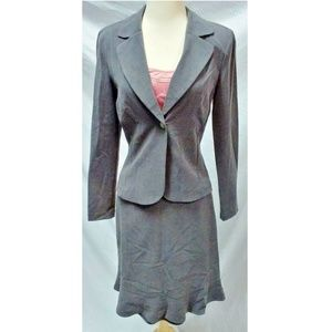 3 Pc Gray Skirt Suit Pink Tank Top 3/4 Michelle